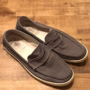 Cole Haan Pinch Gray Loafers Canvas 11.5 C13427